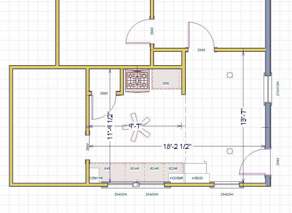 Broadmoor Kitchen Floorplan Before