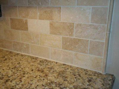 Travertine Tile Backsplash