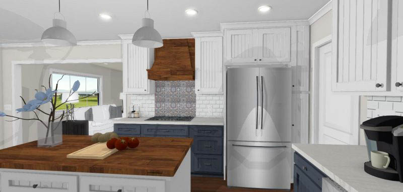 Cottage Kitchen Rendering