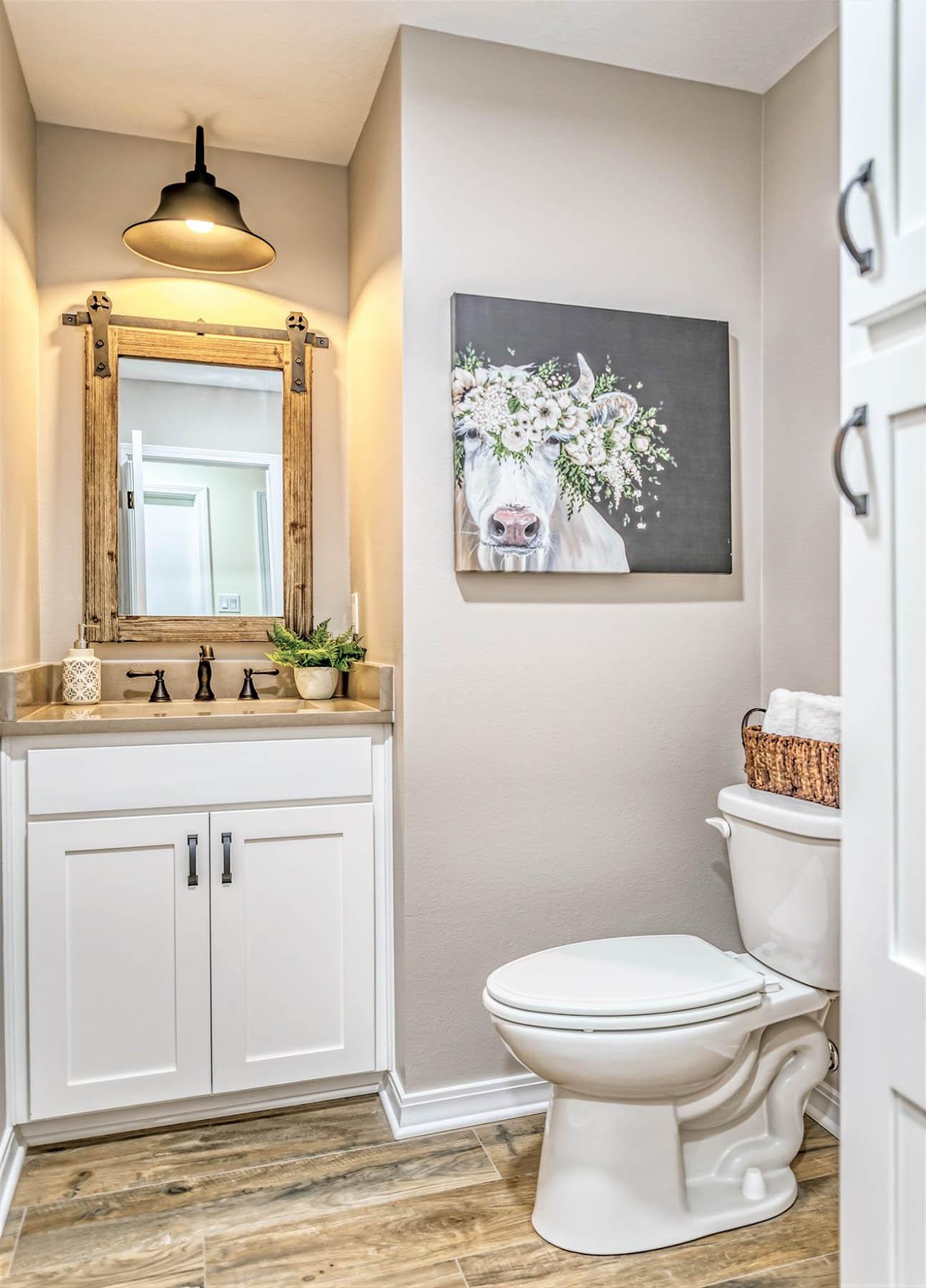 Rustic Kitchen Half Bathroom