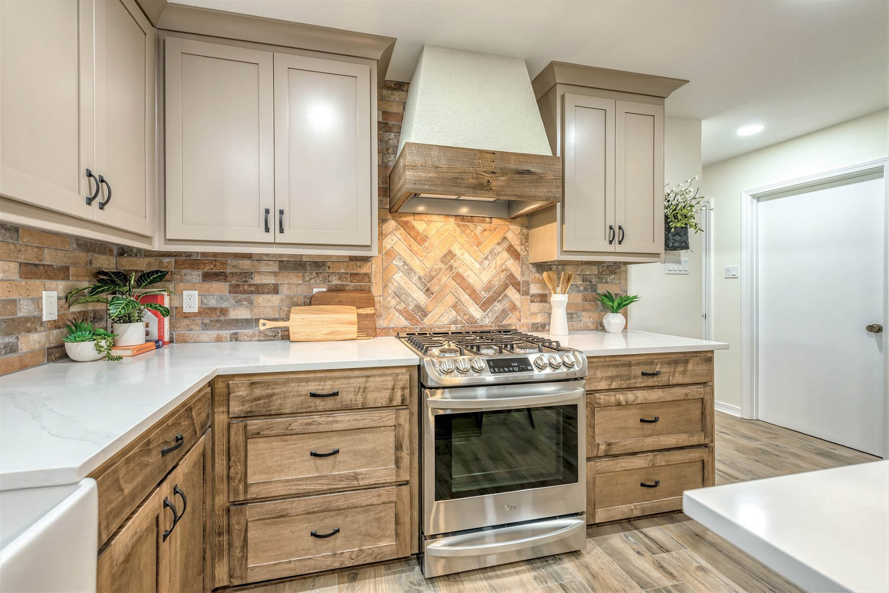 Rustic Kitchen Remodel After