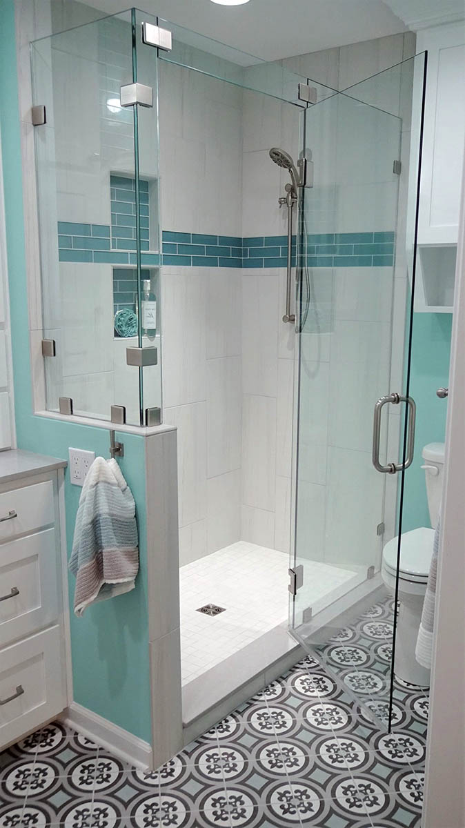 Coastal Bathroom Remodel After