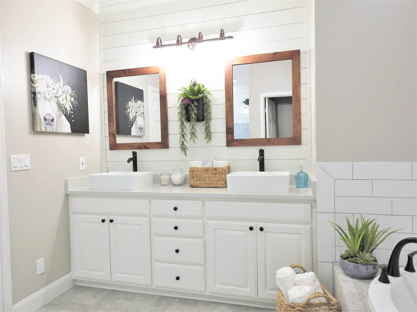 Benton Farmhouse Master Bathroom Remodel