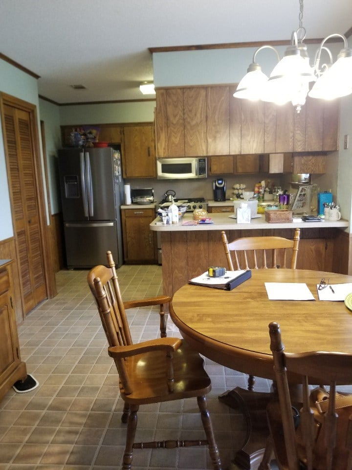 Glamping Inspired Kitchen Before
