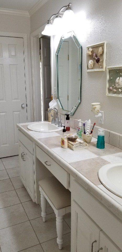 Benton Beach Vibe Master Bathroom Remodel Before